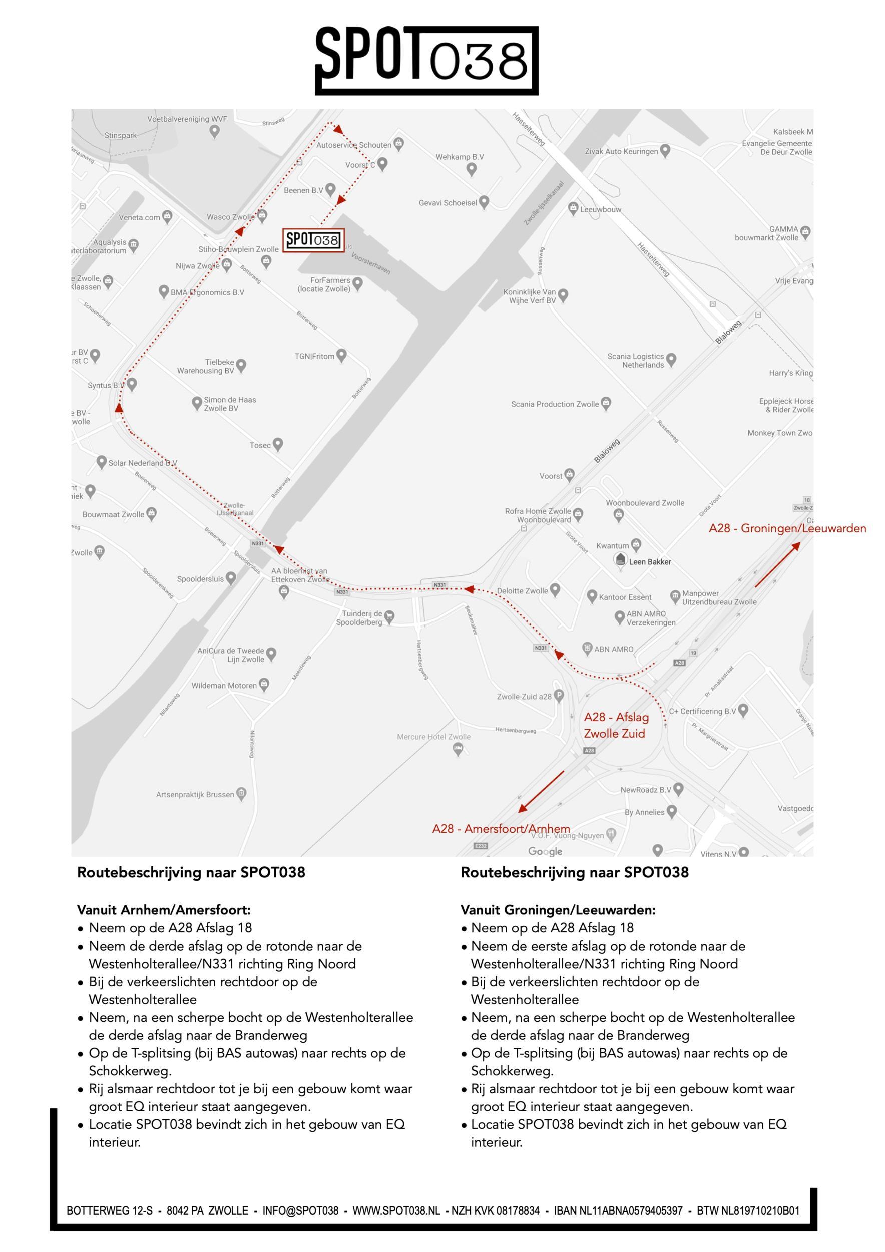 SPOT038 routebeschrijving